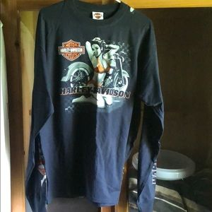 Long sleeve men's Harley T-shirt